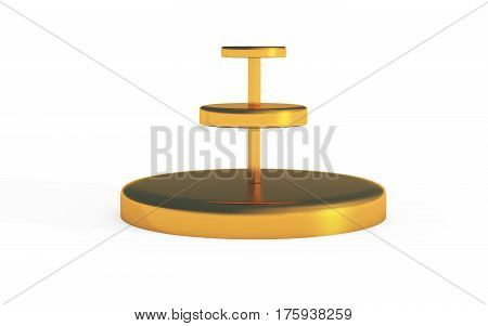 Three Tiers Of Round Stand Gold Copy