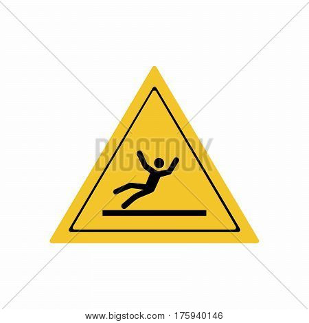 Slippery floor surface sign vector design isolated on white background