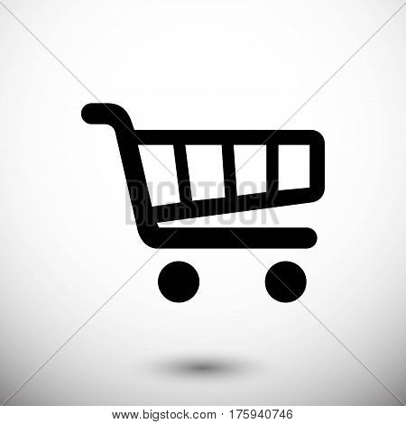 shopping cart icon stock vector illustration flat design