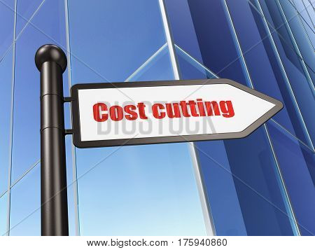 Business concept: sign Cost Cutting on Building background, 3D rendering