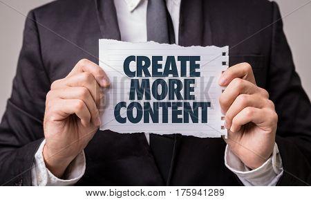 Create More Content