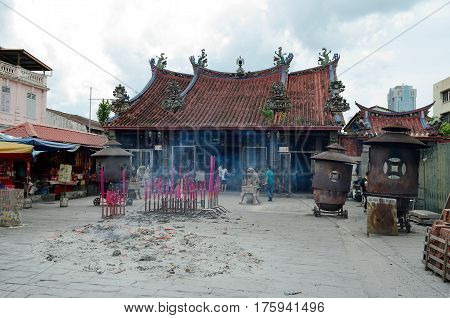 Georgetown/Malaysia - September 2012: Buddhist temple in Georgetown, Penang, Malaysia.