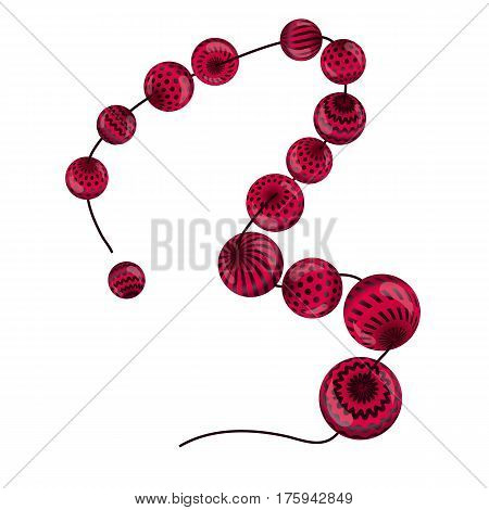 geometric motif inspired by Ukraine traditional stile on white background. red beads creative modern geometry pattern for cards, music poster, flyer, header, book cover, brochure