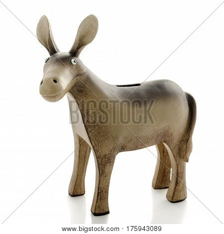 Decorative figurines, statuette of donkey, accessories for interior, white background