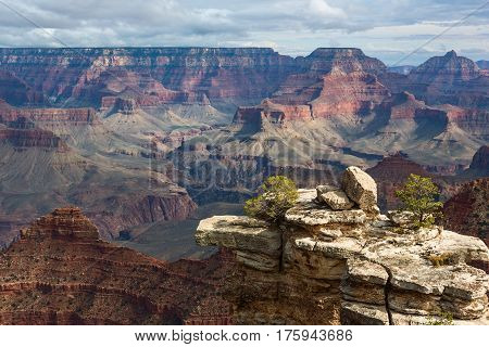 Incredible scenic view of breathtaking landscape in Grand Canyon National Park, Arizona. United States