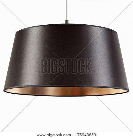 Chandelier, black chandelier, on isolated white background