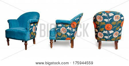 Armchair, Armchair for home, on a isolated white background
