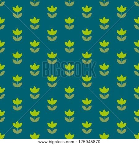 rustic style Holland tulip repeatable motif. simple laconic vector illustration design. seamless background for wrapping paper or fabric