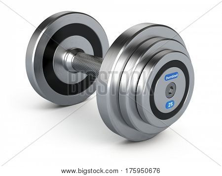 Dumbbell weights isolated on white background. 3d render