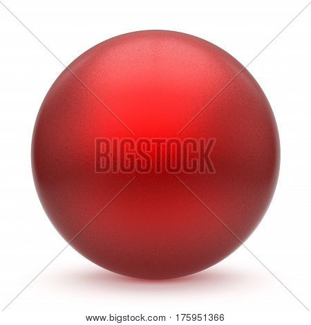 Sphere round button red matted ball basic circle geometric shape solid figure simple minimalistic atom single drop object blank balloon design element empty. 3d render illustration isolated