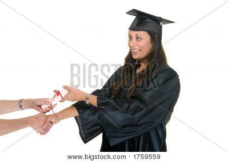 Young Woman Graduate Receiving Diploma 6