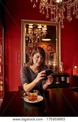 Pretty Young Lady In A Pub