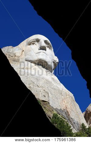 George Washington viewed from the slot, Mount Rushmore
