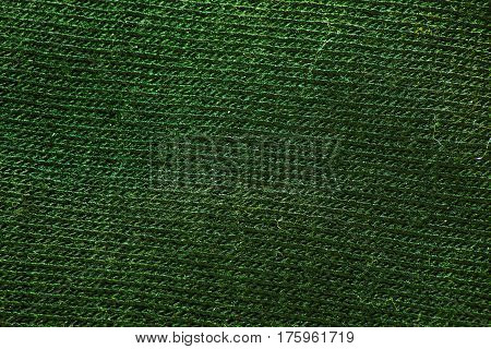 green fabric texture. Useful as a background