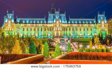 Cultural Palace in Iasi city Moldavia Romania.