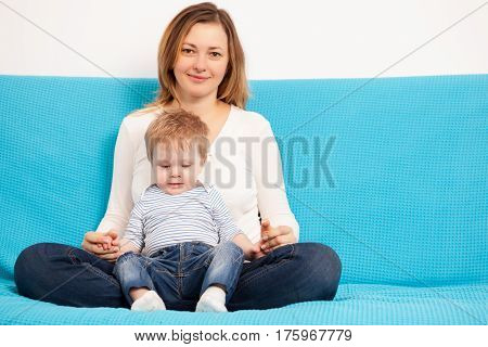 Happy Mother And Son Having Fun Time Toghether