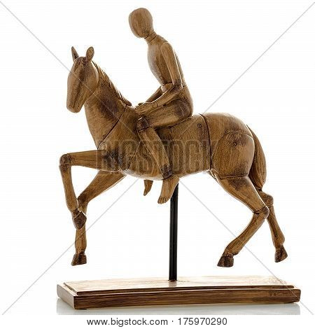 Decorative figurines, statuette a horse, accessories for interior, isolated white background