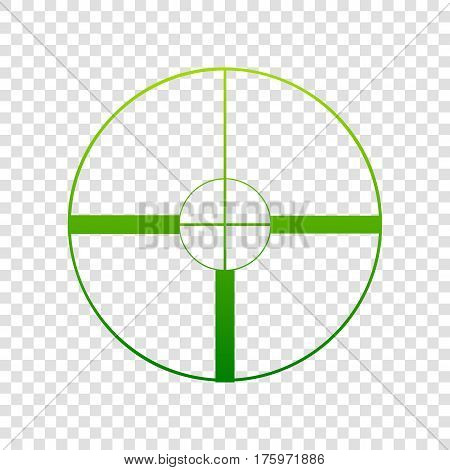 Sight Sign Illustration. Vector. Green Gradient Icon On Transparent Background.