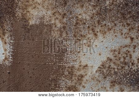 Texture of brown rusty metal full frame