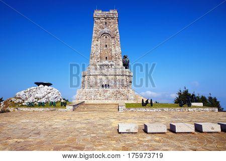 Shipka battle memorial. Memorial Shipka view in Bulgaria