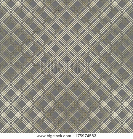 Geometric abstract golden pattern. Seamless modern background