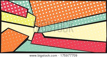 abstract colorful background in trendy pop-art style with halftone dots pattern