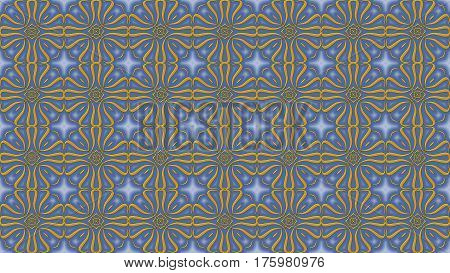 Azure-gray background with gold patterns can be used in the design of your site design textile printing industry in a variety of design projects