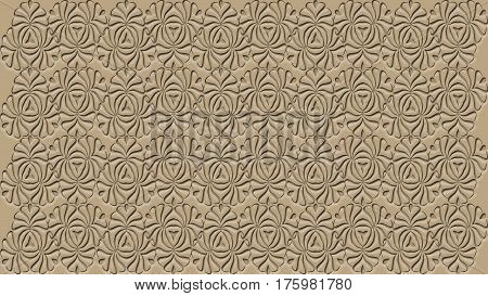 Beige background with patterns can be used in the design of your site design textile printing industry in a variety of design projects