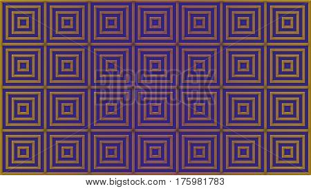 Blue background with gold geometric patterns can be used in the design of your site design textile printing industry in a variety of design projects