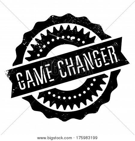 Game changer stamp. Grunge design with dust scratches. Effects can be easily removed for a clean, crisp look. Color is easily changed.