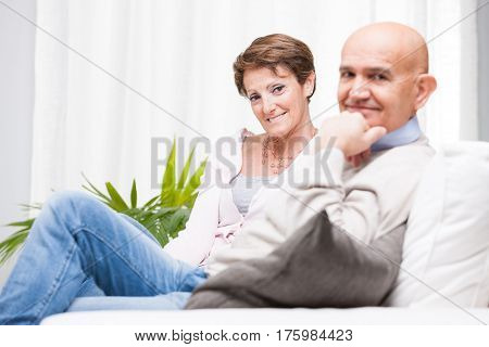 Smiling Friendly Couple Enjoying A Relaxing Day