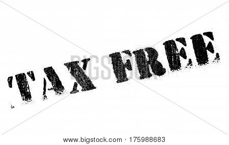 Tax free stamp. Grunge design with dust scratches. Effects can be easily removed for a clean, crisp look. Color is easily changed.