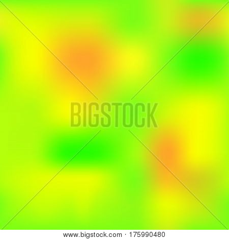 Fresh gradient mesh with yellow orange green colors. Bright colored square vector background. Neon colors mesh. Colorful seamless pattern tile. Bright and juicy seamless background swatch