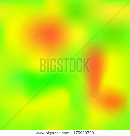 Vivid gradient mesh with yellow orange green colors. Bright colored square vector background. Neon colors mesh. Colorful seamless pattern tile. Bright colored seamless background swatch