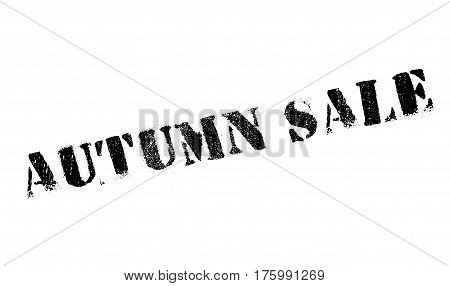 Autumn sale stamp. Grunge design with dust scratches. Effects can be easily removed for a clean, crisp look. Color is easily changed.