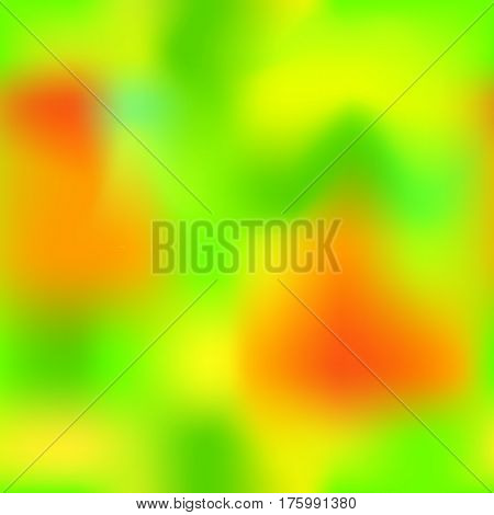 Colorful gradient mesh with yellow orange red green colors. Bright colored square vector background. Neon colors mesh. Colorful seamless pattern tile. Bright colored seamless background swatch