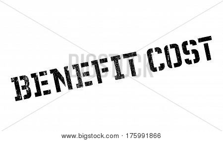 Benefit cost stamp. Grunge design with dust scratches. Effects can be easily removed for a clean, crisp look. Color is easily changed.