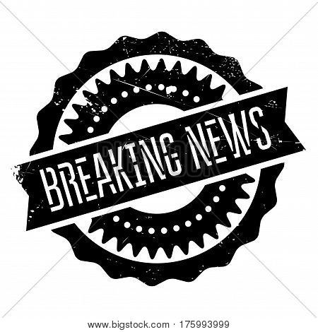 Breaking news stamp. Grunge design with dust scratches. Effects can be easily removed for a clean, crisp look. Color is easily changed.