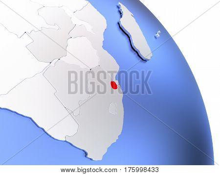 Swaziland On Elegant Globe