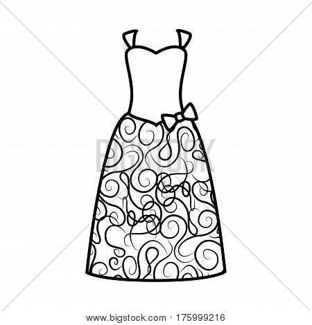 Female wedding dress icon vector illustration design