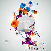 Geometric colorful background poster