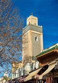 Minaret in Fes Jdid, one of the three parts of Fes - Morocco poster