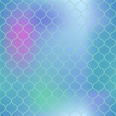 Colorful mesh fish skin vector pattern. Fish scale seamless pattern for marine design. Fishscale pattern square tile. Mermaid tail ornament for romantic sea banner background. Regular scale pattern poster