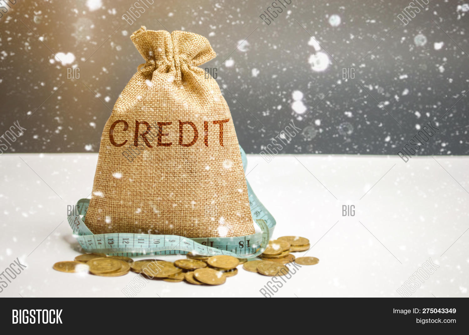 Christmas Loan Promotions.Bag Money Tape Measure Image Photo Free Trial Bigstock