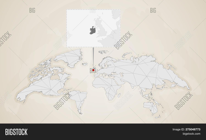 Map Ireland Neighbor Vector & Photo (Free Trial) | Bigstock