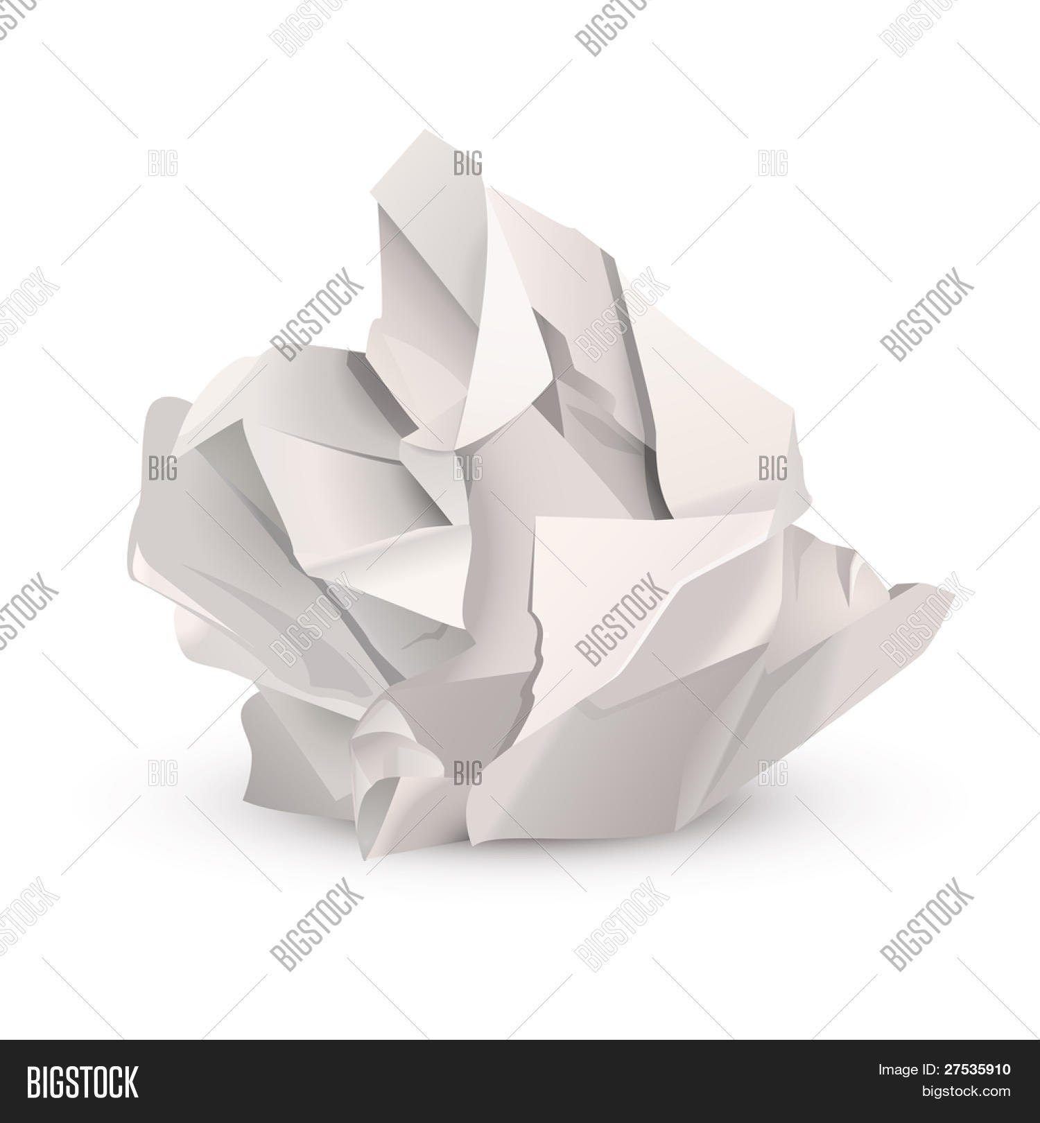 crumpled paper ball vector & photo (free trial)   bigstock