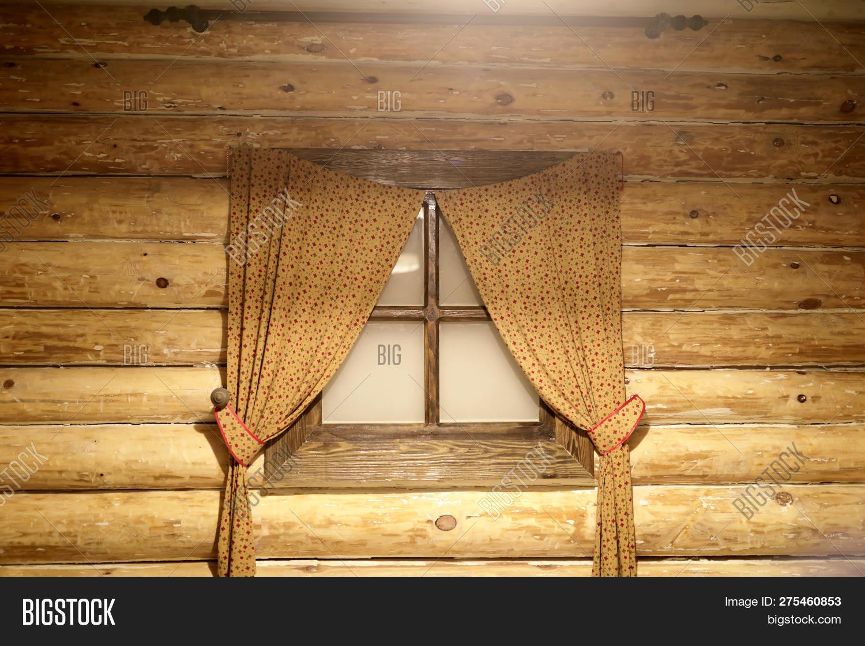 Window Curtains Log Image Photo Free Trial Bigstock