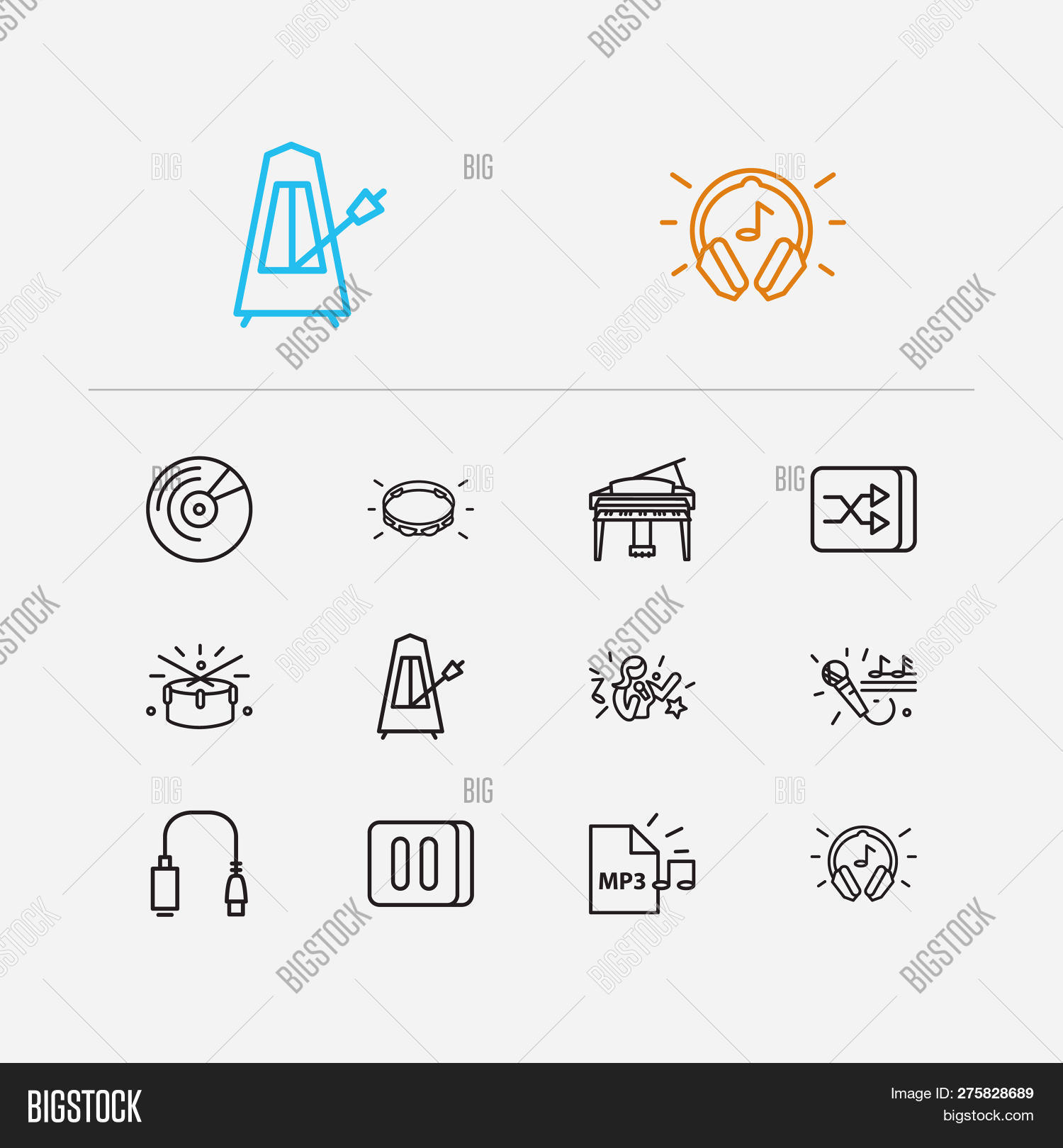 Music Icons Set  Drums Image & Photo (Free Trial) | Bigstock