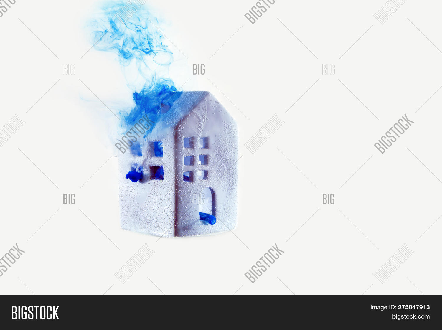 House Blue Water Color Image Photo Free Trial Bigstock