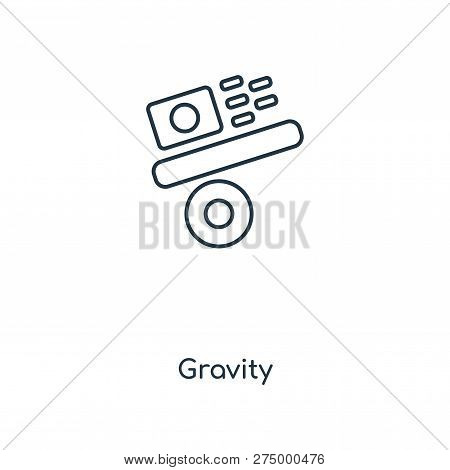Gravity Icon In Trendy Design Style. Gravity Icon Isolated On White Background. Gravity Vector Icon